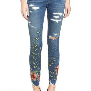 Blank NYC | Embroidered Distressed Jeans